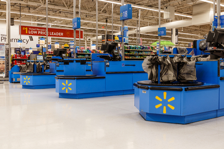 Las Vegas - Circa June 2019: Walmart Retail Location. Walmart is boosting its internet and ecommerce presence to keep up with competitors VII Editorial