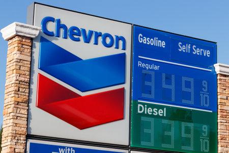 Las Vegas - Circa June 2019: Chevron Retail Gas Station. Chevron traces its roots to the Standard Oil Corporation II