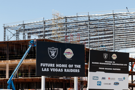 Henderson - Circa June 2019: Raiders new practice facility. The Raiders begin play in Las Vegas in 2020 II