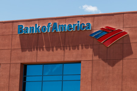 Las Vegas - Circa June 2019: Bank of America Bank and Loan Branch. Bank of America is also known as BofA or BAC I