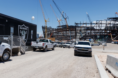 Las Vegas - Circa June 2019: Las Vegas Stadium under construction and will host the NFL Raiders and the UNLV Rebels football teams II
