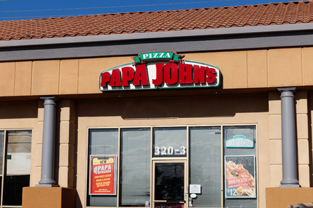 Las Vegas - Circa June 2019: Papa Johns Take-Out Pizza Restaurant. Papa Johns is the third largest take-out and pizza delivery chain in the world I
