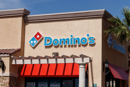 Las Vegas - Circa June 2019: Domino's Pizza Carryout Restaurant. Domino's delivers more than 1 million pizzas a day I Editorial