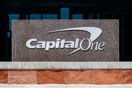 Summerlin - Circa June 2019: Capital One Financial Call center. Capital One is a bank holding company specializing in credit cards and loans III Sajtókép