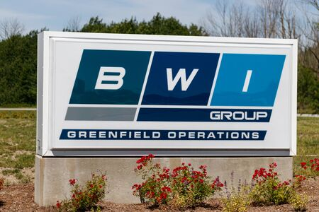 Greenfield - Circa June 2019: BWI Group location. BeijingWest acquired the former Delco and Delphi chassis and brake division II Redakční