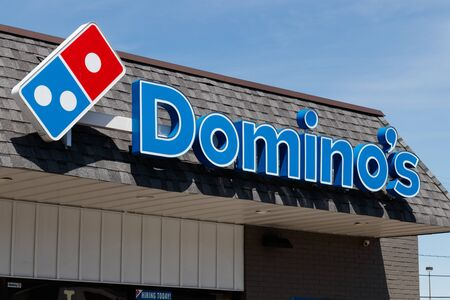 Greenfield - Circa June 2019: Domino's Pizza Restaurant. Domino's delivers more than 1 million pizzas a day IV