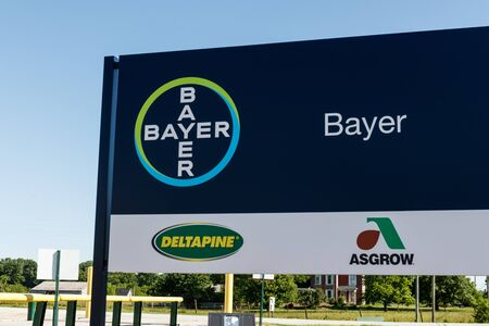 Windfall - Circa June 2019: Bayer Crop Science Seed Production. After the acquisition of Monsanto, Bayer is responsible for its glyphosate lawsuits III Publikacyjne