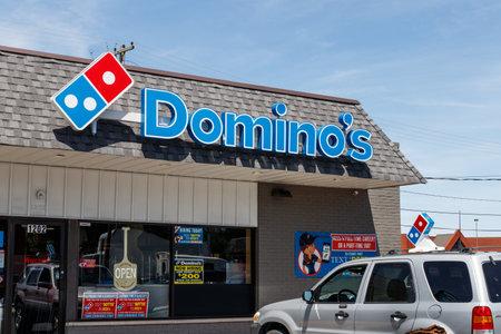 Greenfield - Circa June 2019: Domino's Pizza Restaurant. Domino's delivers more than 1 million pizzas a day V Editorial