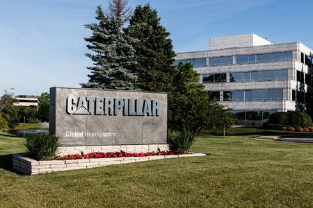 Deerfield - Circa June 2019: Caterpillar Global Headquarters. Caterpillar designs, develops, engineers, manufactures, and markets machinery, and engines I