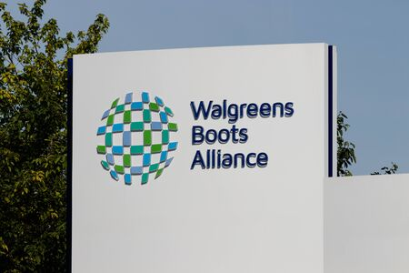 Deerfield - Circa June 2019: Walgreens Boots Alliance Headquarters. WBA brought together Walgreens and Alliance Boots pharmaceuticals IX