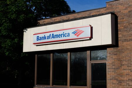 Deerfield - Circa June 2019: Bank of America Bank and Loan Branch. Bank of America is also known as BofA or BAC VII