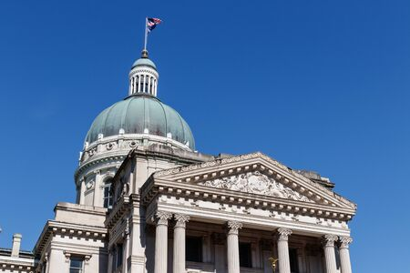 Indianapolis - Circa June 2019: Indiana State House and Capitol Dome. It houses the Governor, Assembly and Supreme Court II