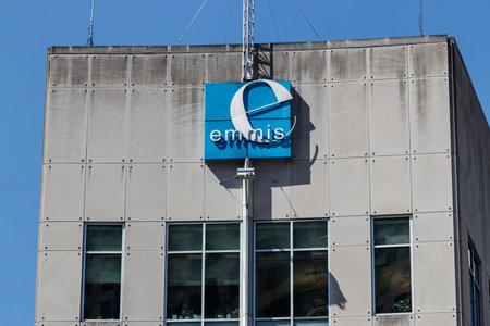 Indianapolis - Circa June 2019: Emmis Communications headquarters. Emmis owns radio stations and magazines I Redakční