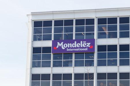 Deerfield - Circa June 2019: Mondelez International Headquarters. Mondelez is the snack food spin off of Kraft Foods I