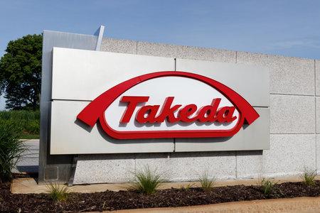 Deerfield - Circa June 2019: Takeda Pharmaceutical Company. Takeda recently acquired Irish drugmaker Shire I 報道画像