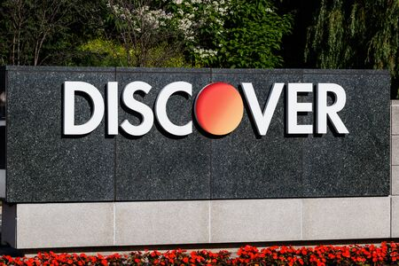 Riverwoods - Circa June 2019: Discover Financial Services headquarters. Discover offers credit cards, home and student loans I