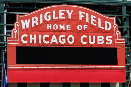 Chicago - Circa June 2019: Wrigley Field Home of Chicago Cubs with copy space I