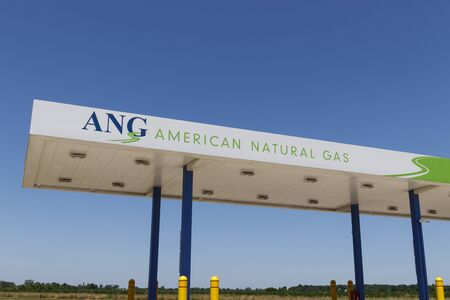 Dayton - Circa July 2019: American Natural Gas filling station. American Natural Gas designs, builds, owns, operates and maintains natural gas fueling stations for transportation I Editorial