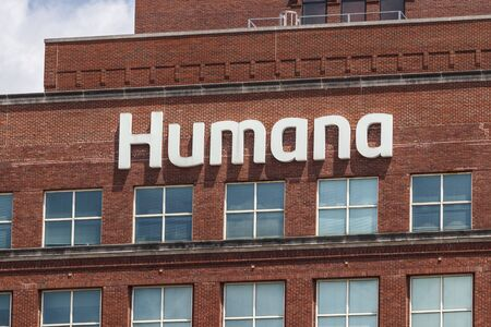 Louisville - Circa July 2019: Humana corporate headquarters. Humana acquired a 40 percent share of Kindred at Home services I