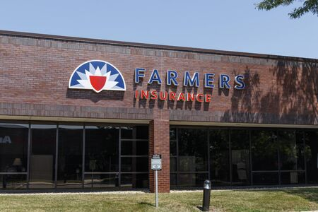 Indianapolis - Circa August 2019: Farmers Insurance Group Agent Location. Farmers Provides Home, Life and Car Insurance II