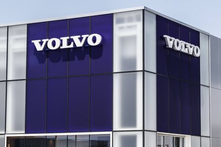 Indianapolis - Circa August 2019: Volvo car and SUV dealership. Volvo is a subsidiary of the Chinese automotive company Geely I