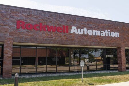 Indianapolis - Circa August 2019: Rockwell Automation location. Rockwell Automation provides Allen-Bradley and Rockwell Software I