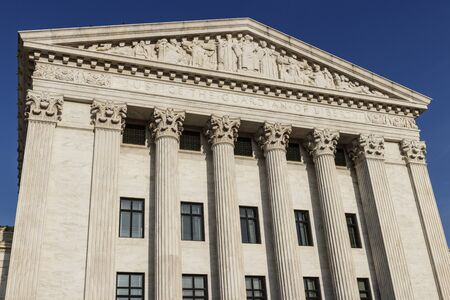 Cour suprême des États-Unis façade arrière.