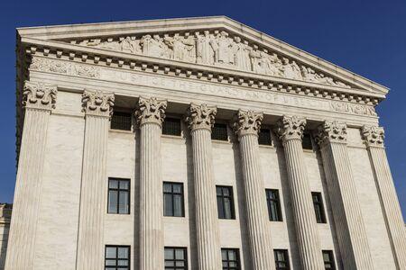 Facciata posteriore della Corte Suprema degli Stati Uniti.