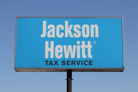 Indianapolis - Circa August 2019: Jackson Hewitt tax service location. Jackson Hewitt is the second largest tax preparation service in the US I