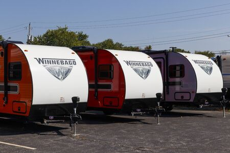 Indianapolis - Circa September 2019: Winnebago Recreational Vehicles at a dealership. Winnebago is a manufacturer of RV and motorhome vacation vehicles
