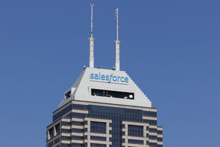 Indianapolis - Circa October 2019: Salesforce tower. Salesforce intends to continue its investment in integration software, customer data and SMBs Editorial