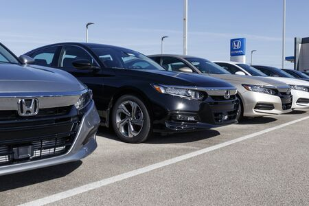 Muncie - Circa February 2020: Honda Motor Co. automobile and SUV dealership. Honda manufactures among the most reliable cars in the world.
