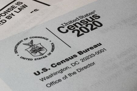 Census 2020 form. The census is the procedure of systematically acquiring and recording information about the members of a given population.
