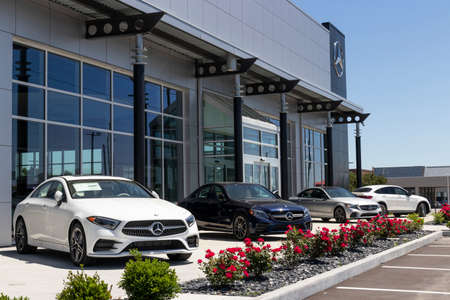 Indianapolis - Circa May 2020: Mercedes-Benz Dealership. Mercedes-Benz is a global automobile manufacturer and a division of Daimler AG.