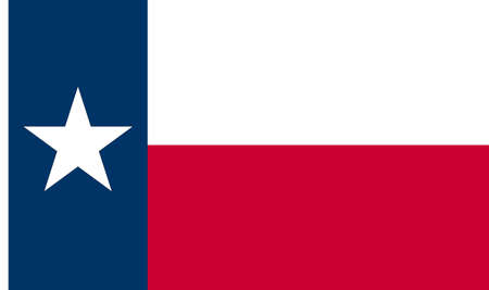 Texas Flag vector isolated on transparent background. It represents Texas as the Lone Star state.