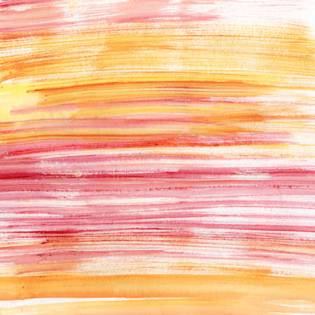 hand colored: Pink and orange stripes watercolor, scanned in high resolution