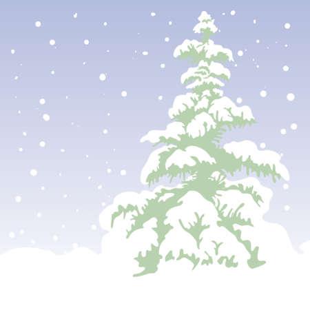 fir-tree, xmas vector background Stock Vector - 599318