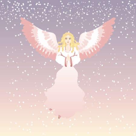 angelo di natale, vettore