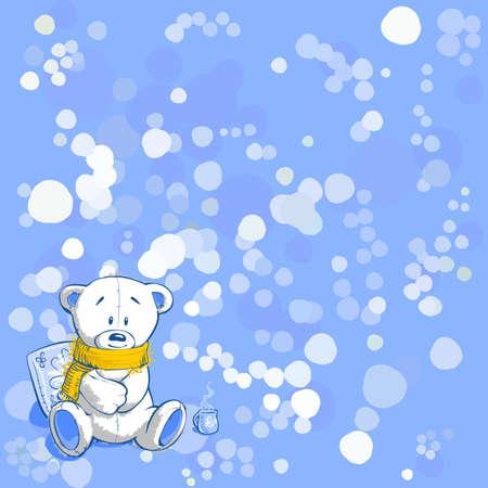 Wintertime, vector illustration