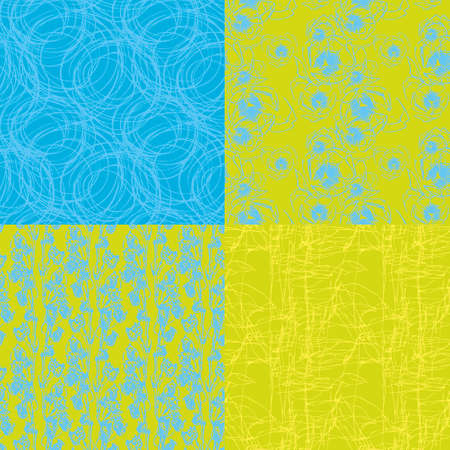 Set of four two-colors textures