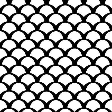 Black and white squama seamless pattern