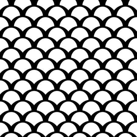 Black and white squama seamless pattern
