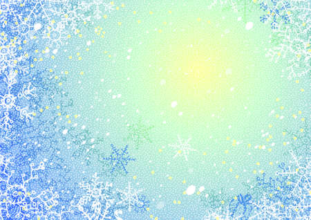 Blue vector background for the new year or christmas congratulation Illustration