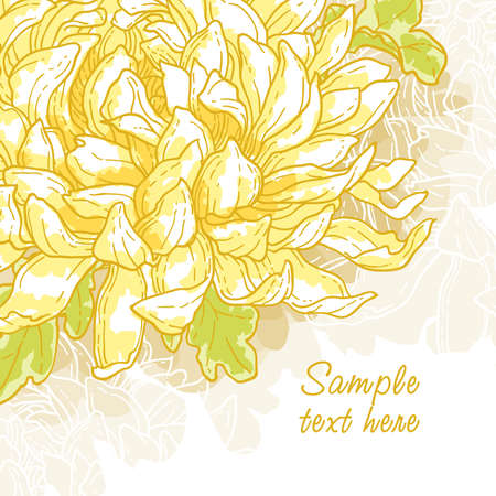 Abstract romantic vector background with chrysanthemum Vector