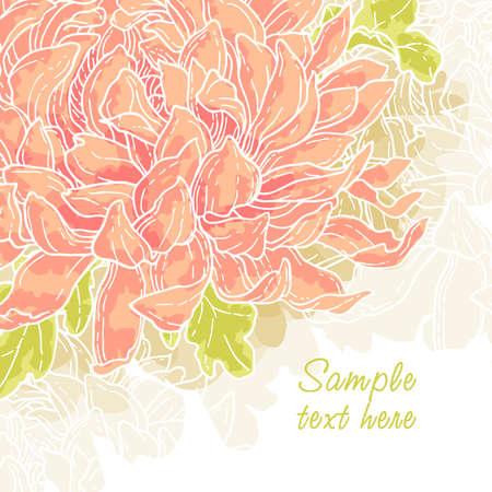 crisantemos: Fondo de vector rom�ntico abstracto con Crisantemo