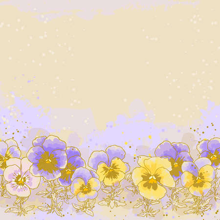 Beautiful pansy on textured background Stock Vector - 9720050