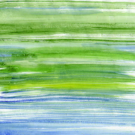 scanned: Green and blue watercolor lines, scanned in high resolution