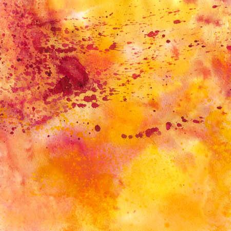 colores calidos: Acuarela rosa y naranja de fondo, escaneadas en alta resolución Foto de archivo