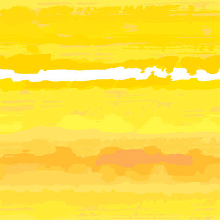 Sunny-yellow textured wtercolor seamless backround Vector