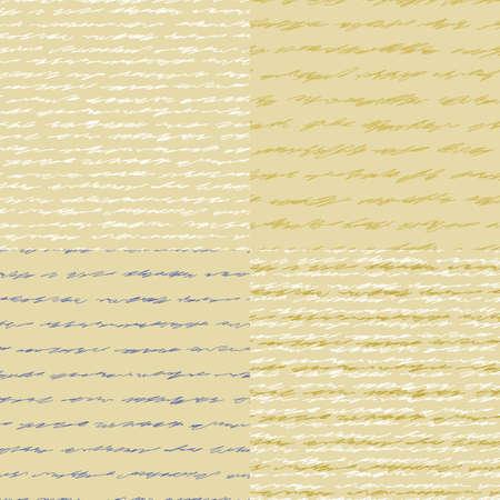 effortless: Carta Vieja l�nea curva, imitando la escritura ilegible Cuatro patr�n de vector sin fisuras